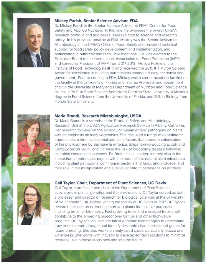 Breeding Crops for Enhanced Food Safety - invited speakers